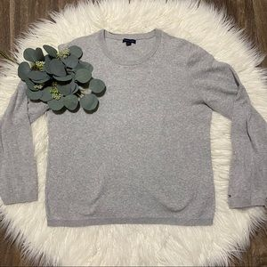 Tommy Hilfiger Grey Long Sleeve Crew Neck Sweater